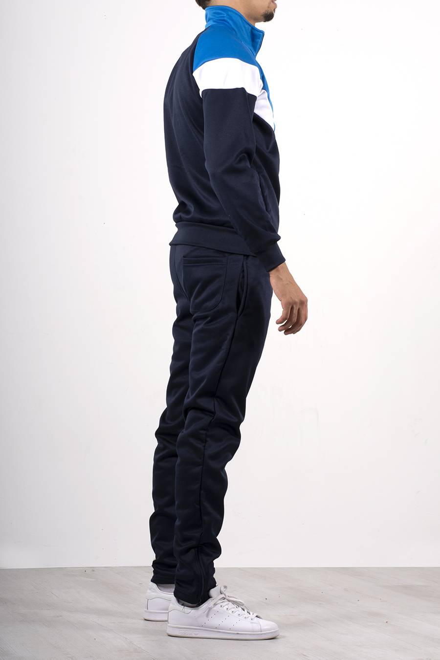Navy Funnel Tracksuit With Colourblock Panel Detail J5 Fashion