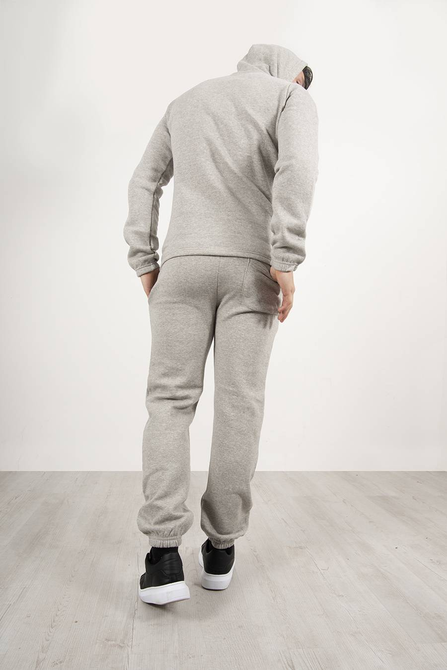 Grey Pullover Hooded Tracksuit J5 Fashion