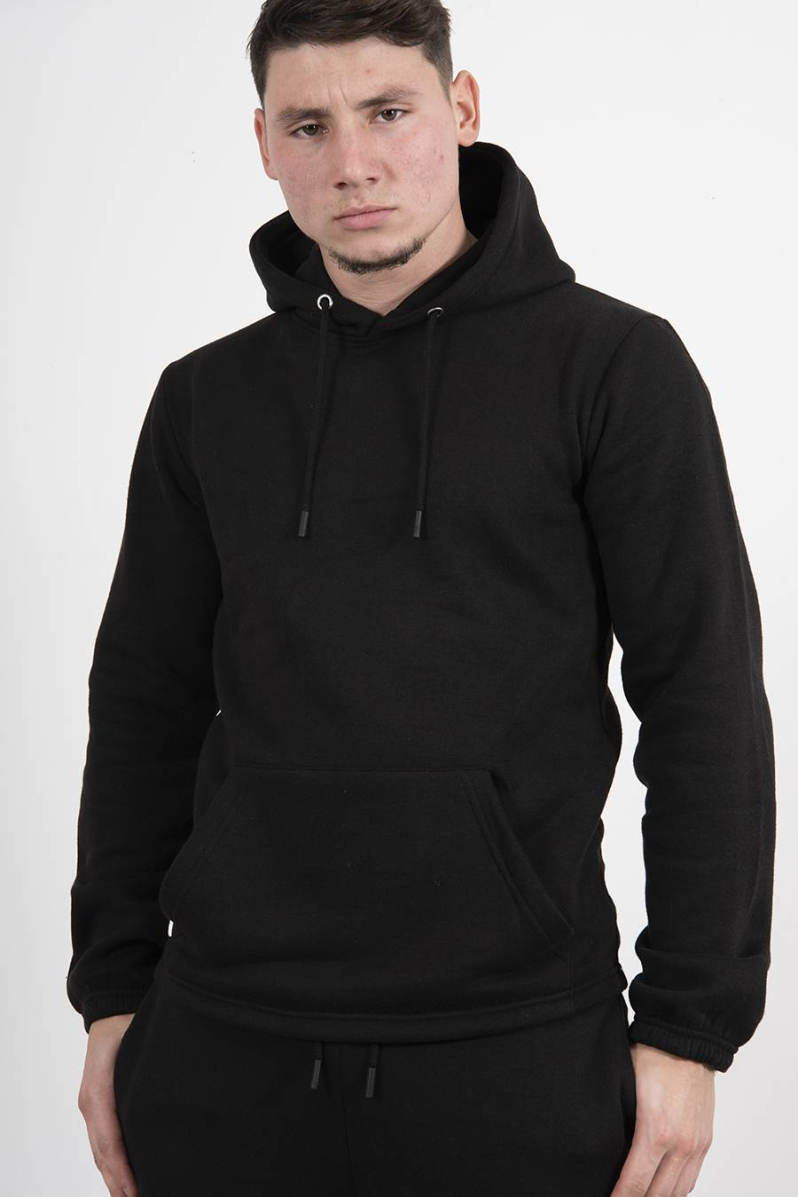 Black Pullover Hooded Tracksuit J5 Fashion