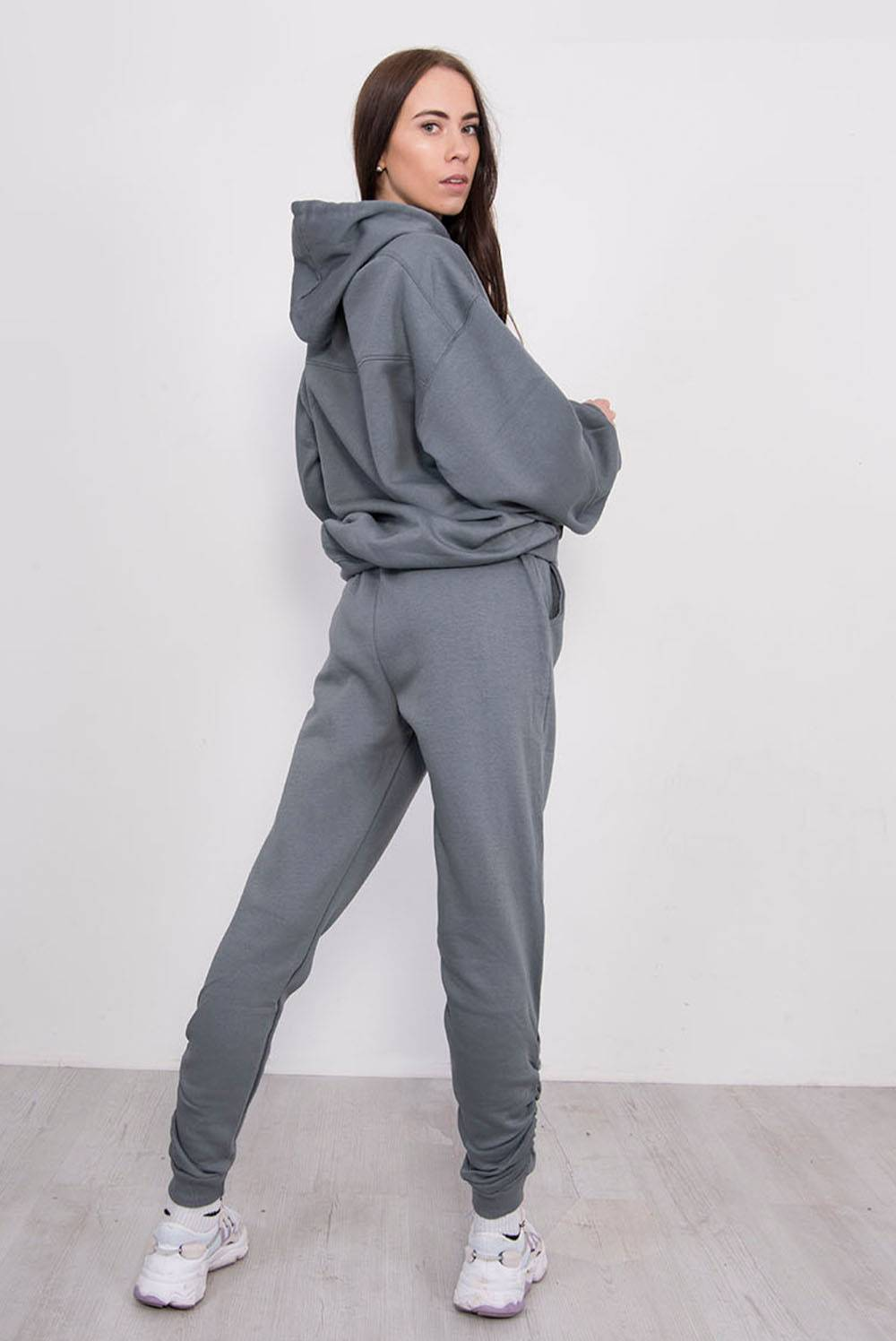 Airforce Ruched Hoodie And Jogger Set J5 Fashion