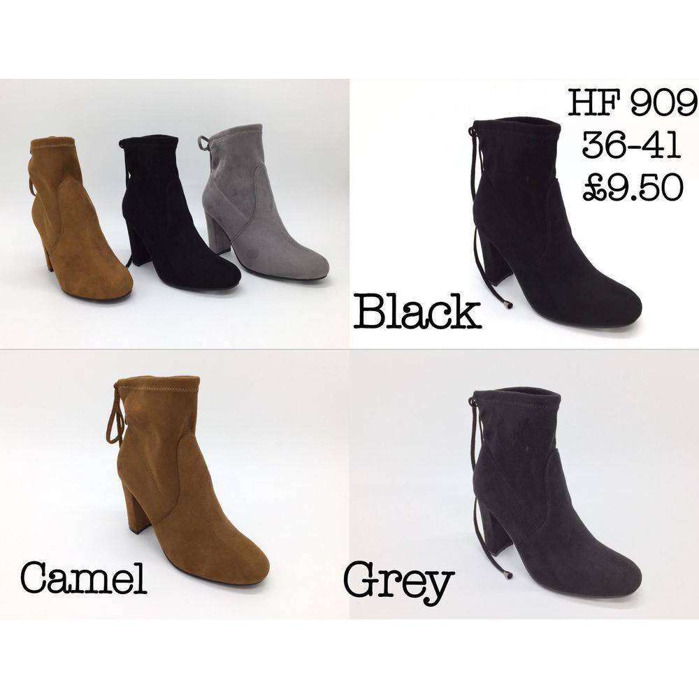 Faux Suede Ankle Boots Happy Feet