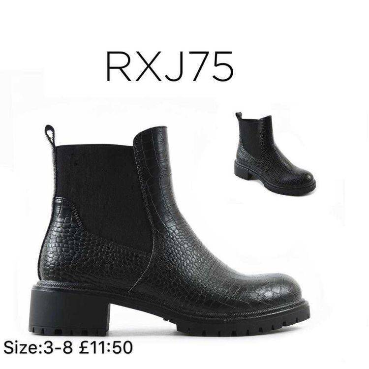 Croc Detail Ankle Boots Happy Feet