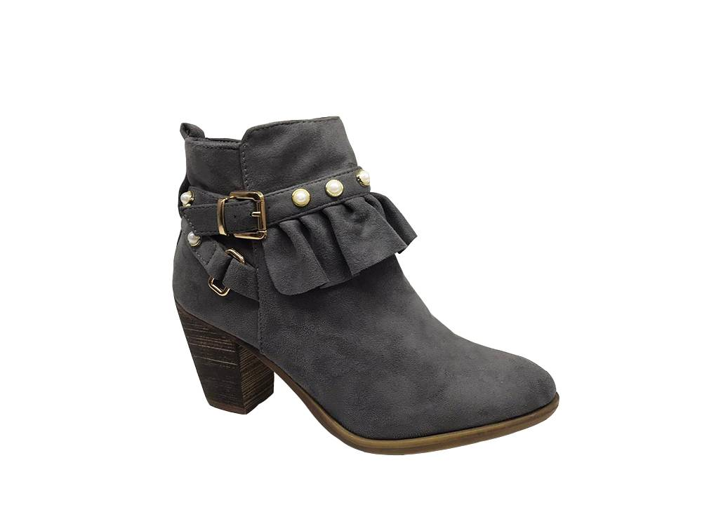 Women's Ankle Bootie with Peal Top Staka