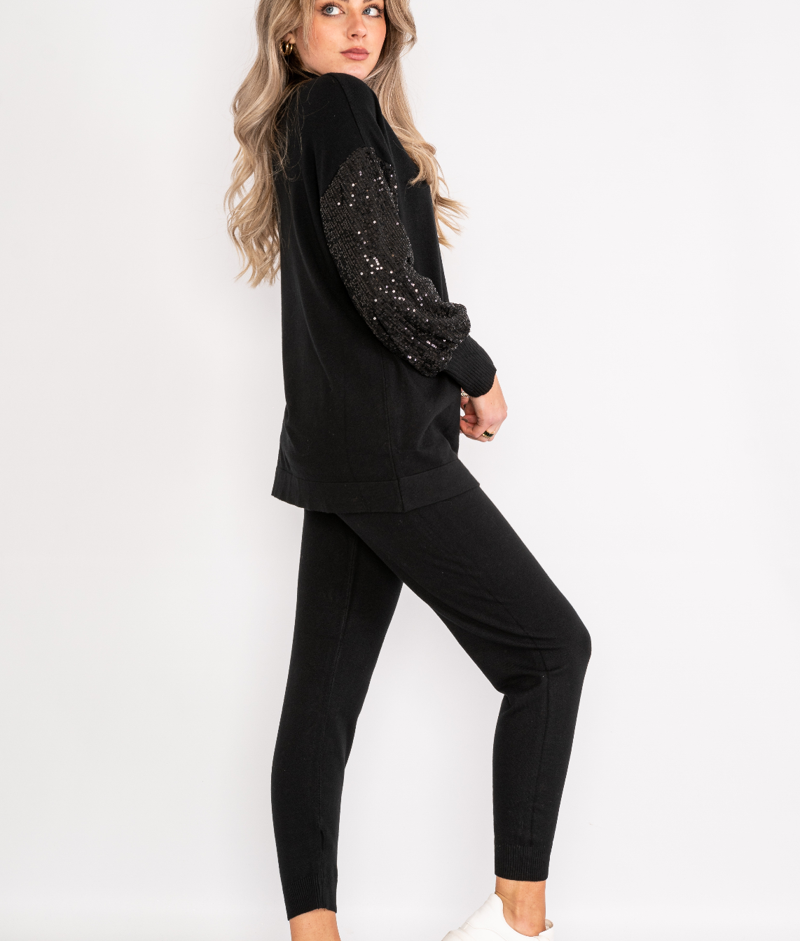 Sequin sleeve loungewear set Lucy Sparks