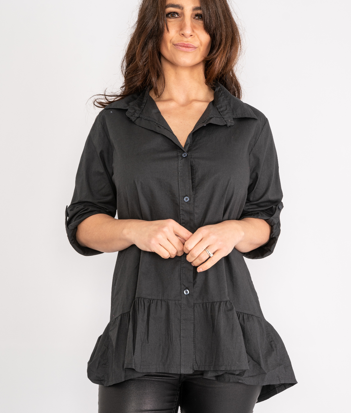 Ruffle button up shirt Lucy Sparks