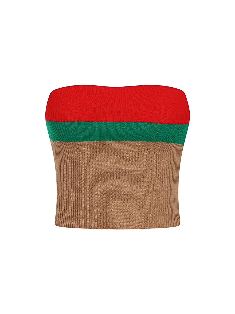 Zara Camel Tan Red and Green Striped Fine Knit 3 Piece Lounge Co-ord Set Nazz Collection
