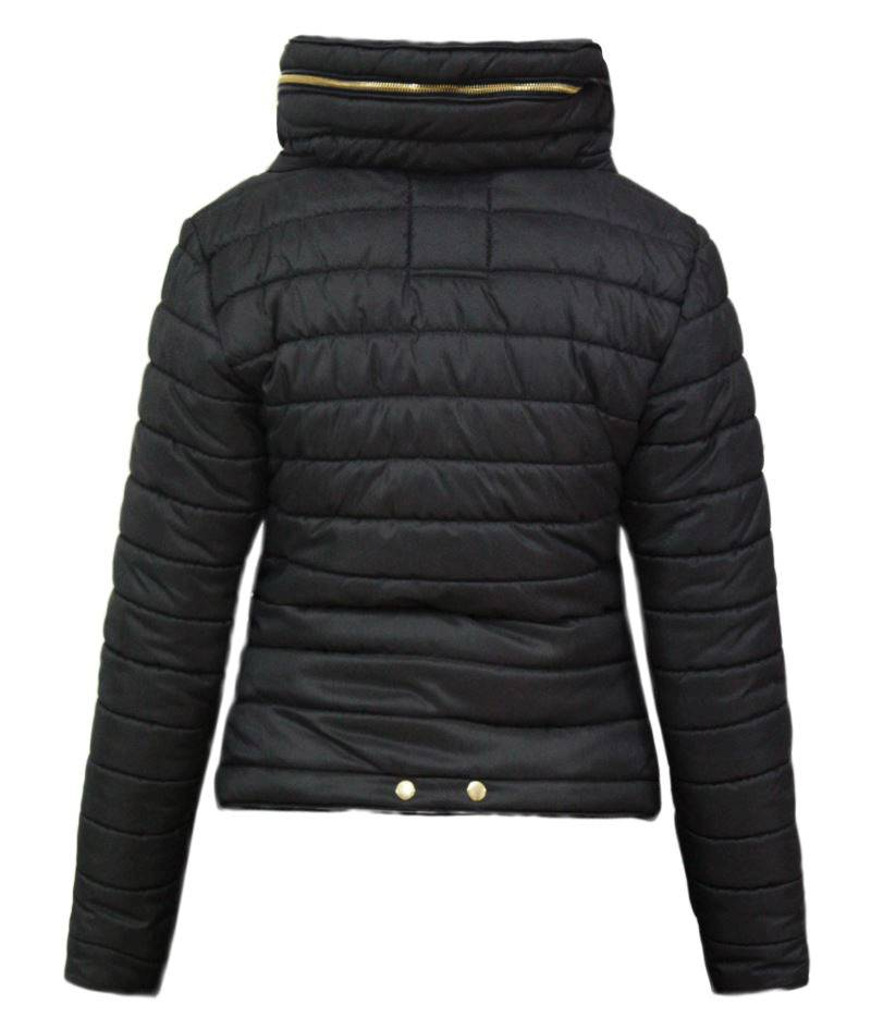 Plus Size Wine Quilted Padded Bubble Puffer Fur Collar Jacket J5 Fashion
