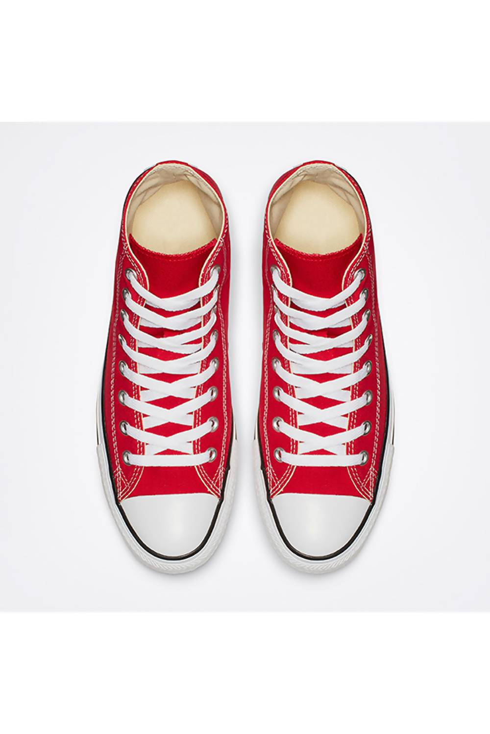 Red High Top Canvas Trainers J5 Fashion