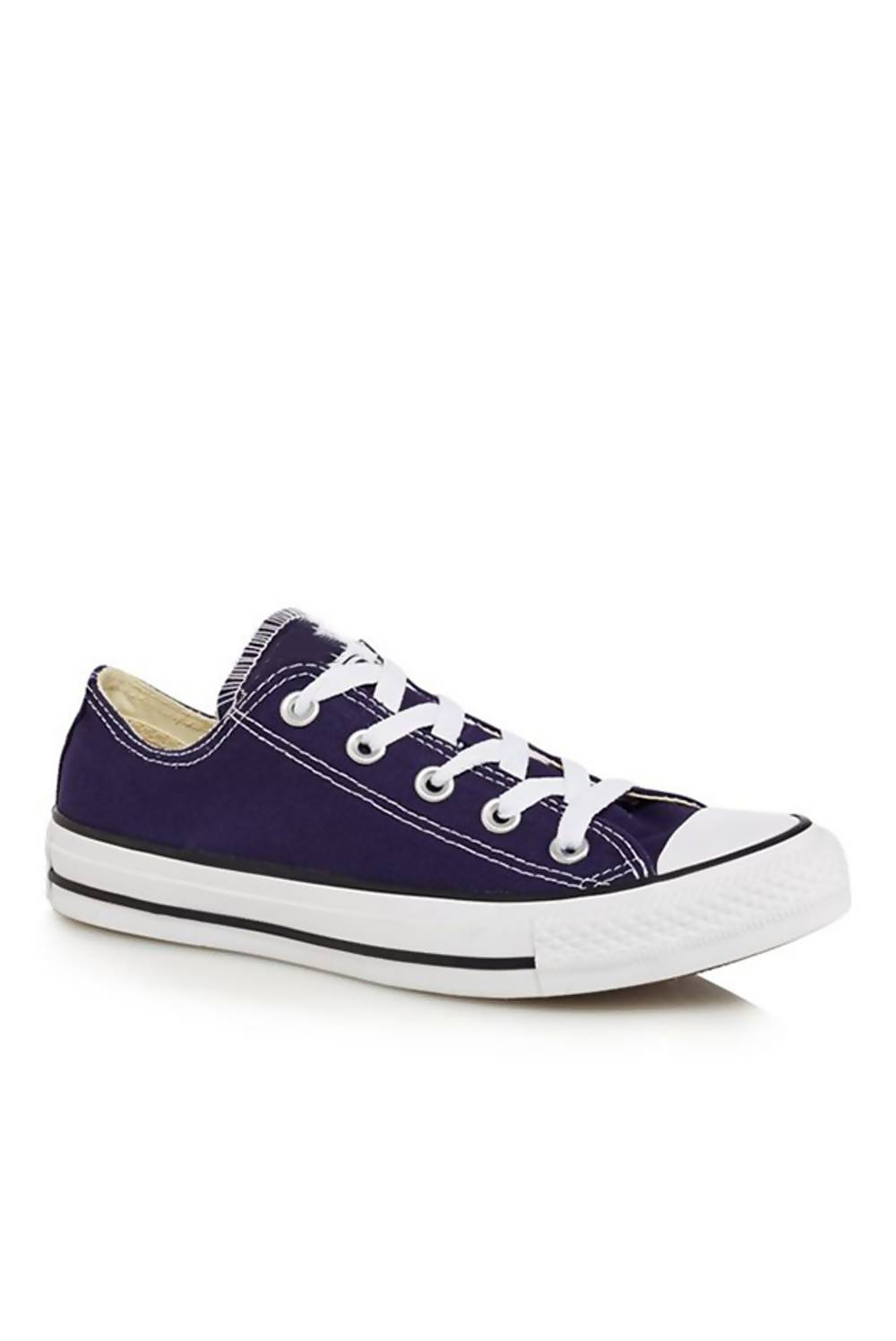 Navy Canvas Flat Lace Up Trainers J5 Fashion