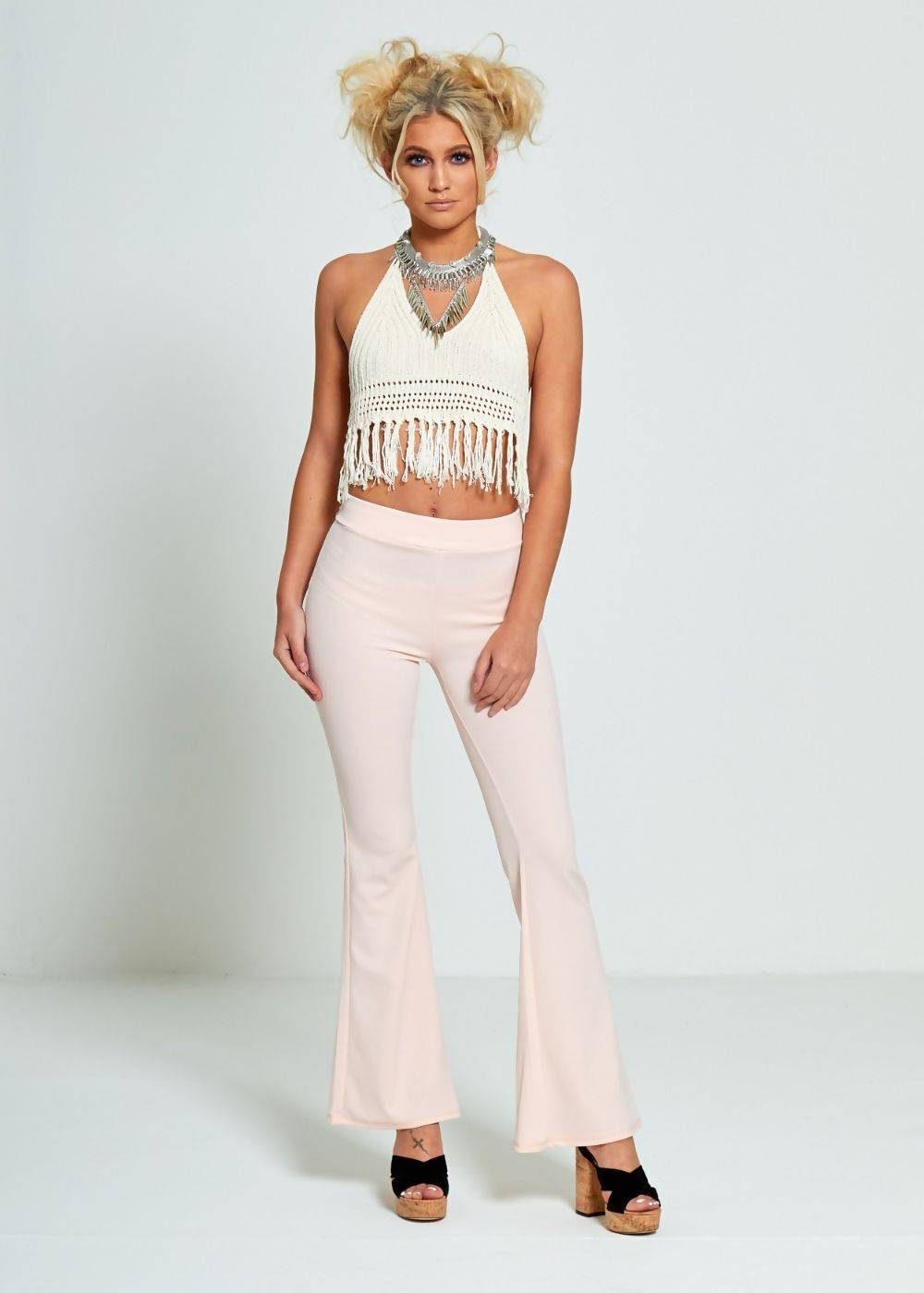 Nude Pink Woven Trousers J5 Fashion